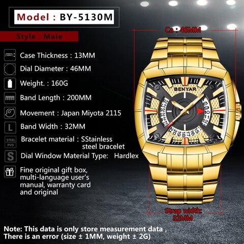Benyar Men Watch Top Luxury Brand Military Reloj Hombre Steel Quartz Watches Waterproof Sport Wrist watches Casual Montre Homme Karachi