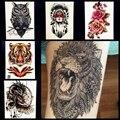 Мода Hot Индийской King Lion Head Designs Флэш Татуировки Черный водонепроницаемый Татуировки Наклейки GB496 Мужчины Боди-Арт Рука Рукав Татуировки львов