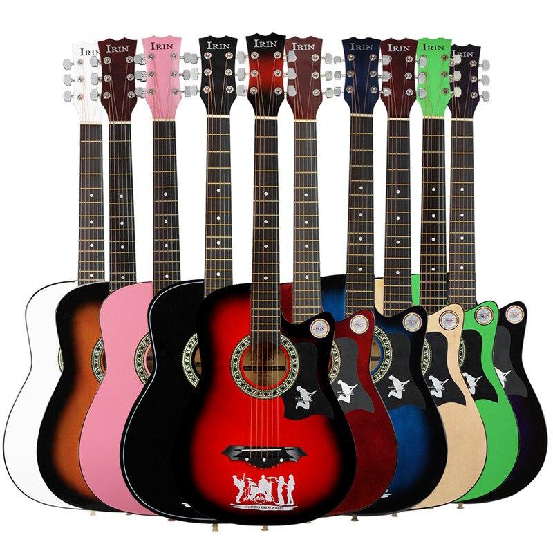 38 pouces guitare acoustique 6 cordes érable Guitarra guitare Folk Instruments à cordes Performance musicale cadeaux pour les amateurs de musique