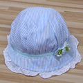 Summer Baby Caps Cotton Baby Hat Newborn Photography Props Rosette Baby Girl Hat -- MKE046 PT40