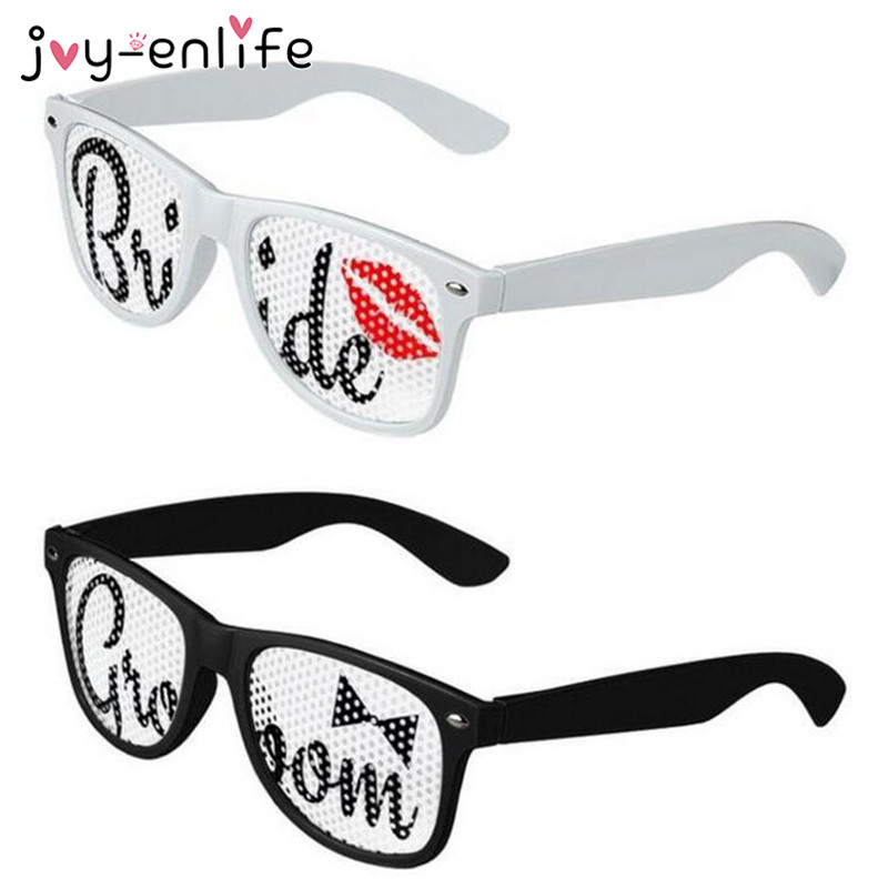 JOY-ENLIFE Bridal Themed Bride And Groom Glasses Bridal Shower Bachelorette Party Decor Wedding Party Hen Night Party Supplies