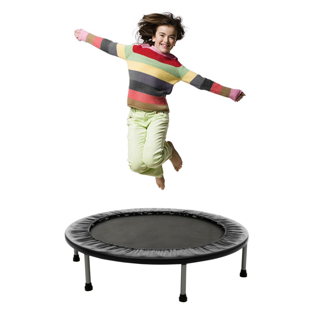 40 Inch Mini Folding Trampoline Fitness Workout Rebounder Children Trampoline For Kids Adjustable Handrail Suit Ages 12+40 Inch Mini Folding Trampoline Fitness Workout Rebounder Children Trampoline For Kids Adjustable Handrail Suit Ages 12+