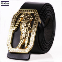 2017 Newest Men S Genuine Leather Belt Crocodile Grain Leather High Brand Luxury Men Belts Large