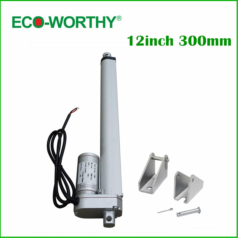 300mm 12inch Load multi-function Linear Actuator for DIY 1KW solar tracking Tracker 50mm 2inch load multi function linear actuator for diy 5kw dual axis solar tracking tracker