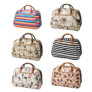 2019 Fashion Travel Bag Zipper Pu Leather Travel Bag Women Weekender Storage Carry On Travel Fashion Brand Design