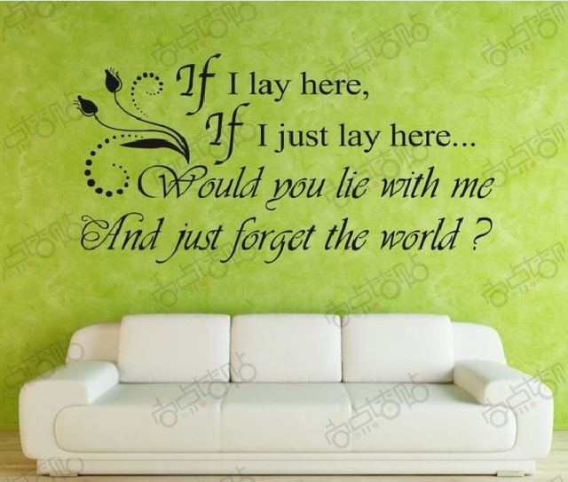 if i lay here Removable  Wall Art Sticker DIY Decal Quotes Decoration Decor Wallpaper Love Cheap Fashion Korean