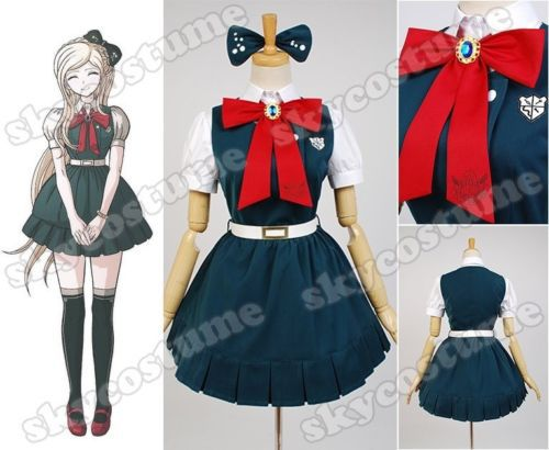 Super Danganronpa 2 Sayonara Zetsubo Gakuen Sonia Nevermind Dress Cosplay Costume Halloween Carnival Full Set