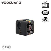 YOOCUANG mini camcorder SQ11 portable audio video camcorder mini camera HD video camera 1080P Night Vision Sport Outdoor DV
