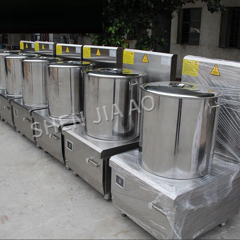 Коммерческая кулинарная техника, индукционные плиты, электромагнитная суповая печь 12/15 кВт, одноголовая низкая суповая плита 380 В 4