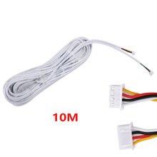 MOUNTAINONE 10 M 2.54*4 P 4 drutu kabel do wideo domofon kolorowy wideodomofon dzwonek przewodowy domofon kabel