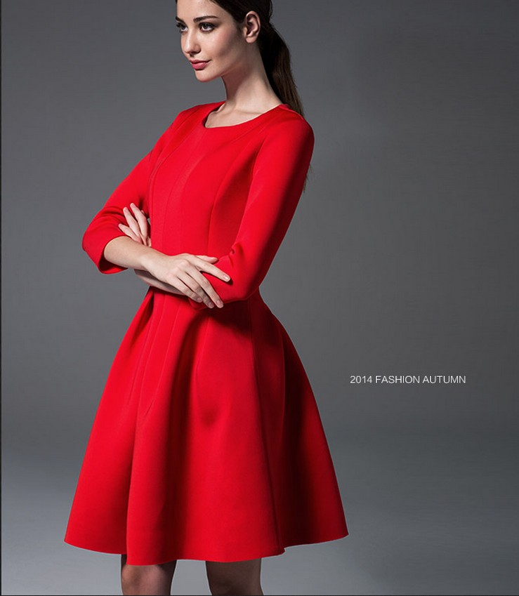 Slim Dresses Red and Black Ball