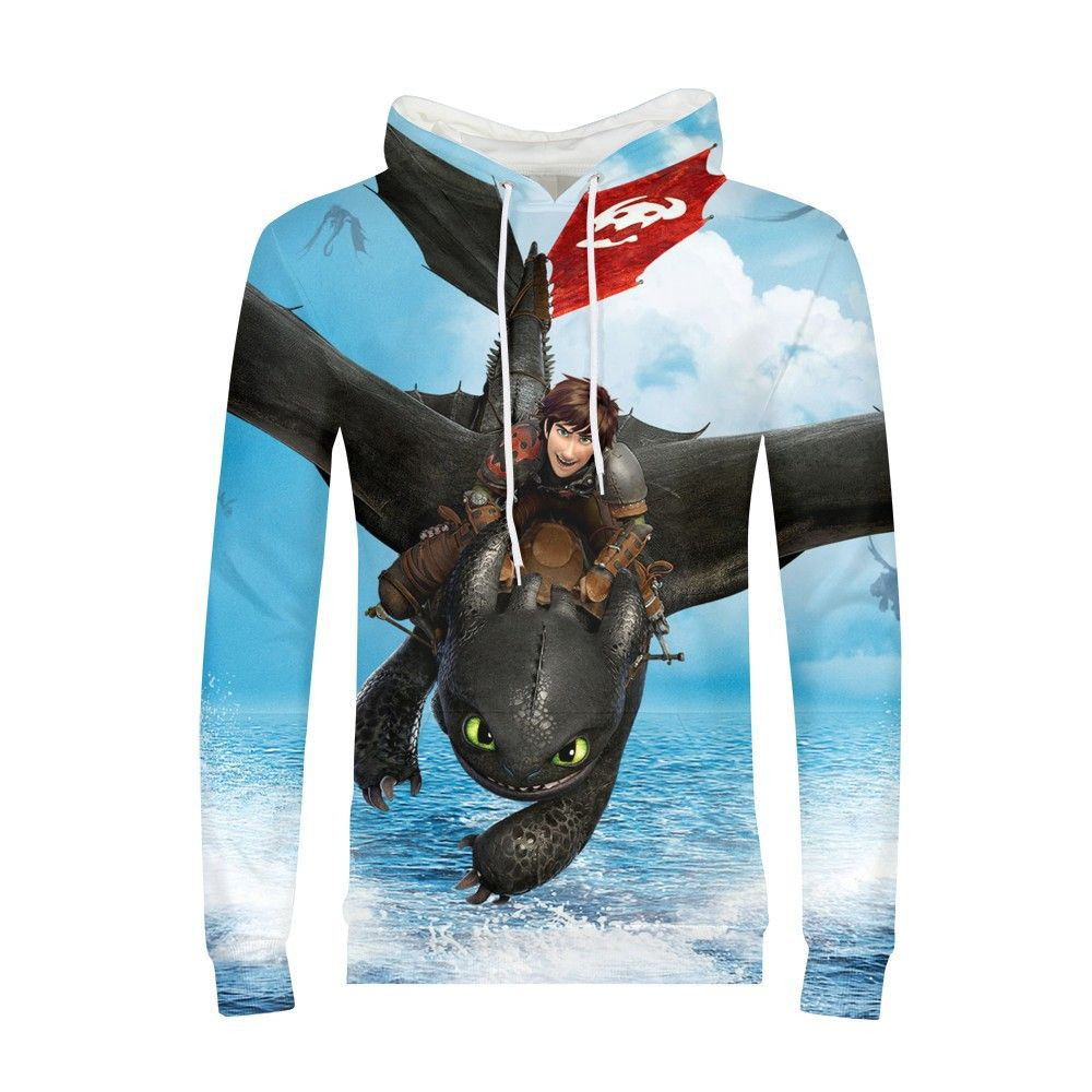 Unisex How to Train Your Dragon Toothless 3 Cosplay  Hoodies 3D Print Men and women Hoodies
