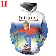 2017 Headbook 2017 New Fashion Men/Women Hoodies Hooded 3d Sweatshirt Men Print Internet Skateboard Youth Jacket 3d Hoodies