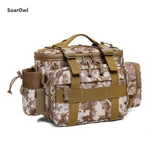 Image 3 - Multifunctional Shoulder Bag Fishing Gear Fishing Bag Waterproof Bag Outdoor Tactical Mountaineering Backpack Portable nylon