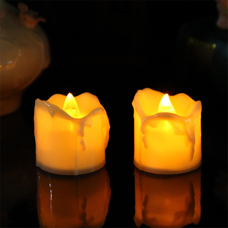 12 pieces flickering electronic led kaarsen,battery velas-led,romantic speical decorations for a wedding,battery included