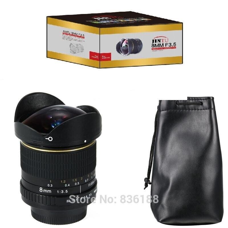 JINTU TOP 8mm F/3.5 Ultra Grand Angle Fisheye Lentille pour Nikon SLR Caméra D5100 D5200 D7200 D3300 d3200 D3100 D90 D7100 D700 D800