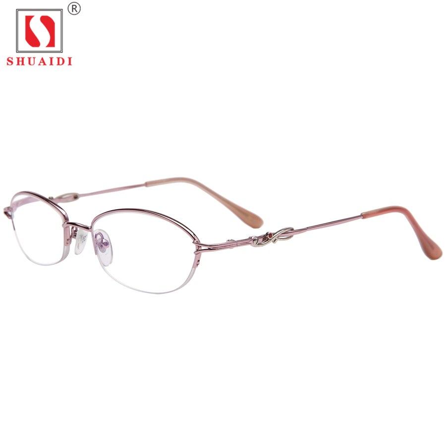c4618f63c17cc4 Kopen Goedkoop Vrouwen Half Aluminium Frame Hars Lenzen Leesbril Mode Anti  Vermoeidheid Vrouwelijke Eyewear + 1.0 1.5 2.0 2.5 3.0 3.5 4.0 Prijs.