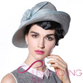 2017 Vintage Women Straw Derby Church Wedding Cocktail Evening Party Beach Hat Fedora Cap Wide Brim Berets Beanies Sun Dress