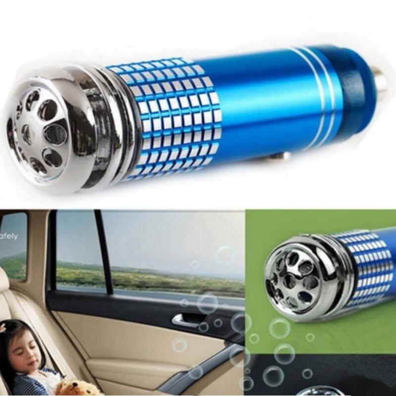 1 pcs/Lot 12v Mini Auto Car Fresh Air Purifier Oxygen Bar Ionizer Negative Ion Generator Black