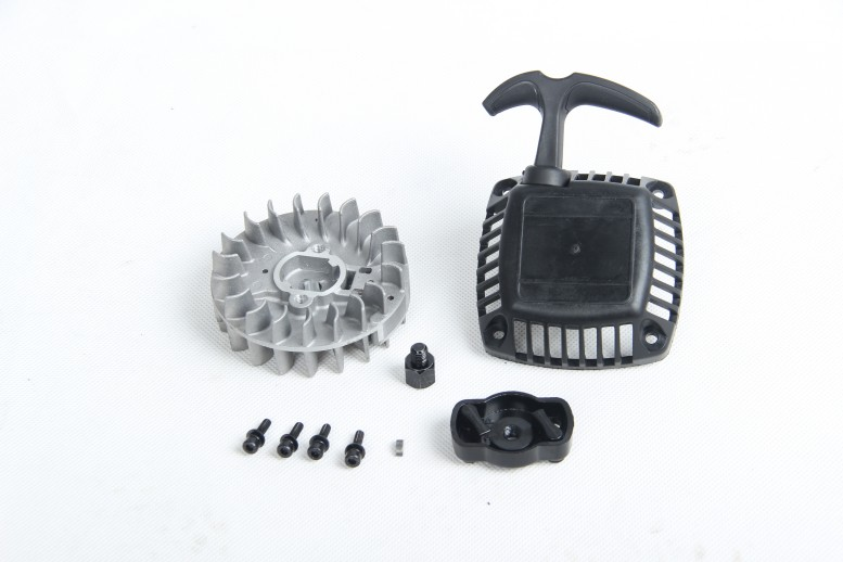 Easy start pull starter and Flywheel with Claw for 32CC rovan zenoah engine for lOSI 5IVE-T rovan  Kingmotor baja 5B 5T 5SC aluminum water cool flange fits 26 29cc qj zenoah rcmk cy gas engine for rc boat