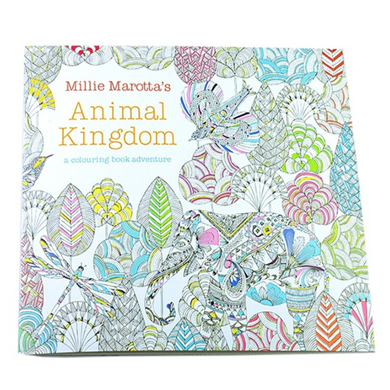 HOT SALE Children Adult Animal Kingdom Treasure Hunt Coloring Painting Book