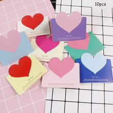 10pcs Mini Simple Creative Hollow Love Word Heart Greeting Card Wedding Thanks Birthday Paper Party Supplies