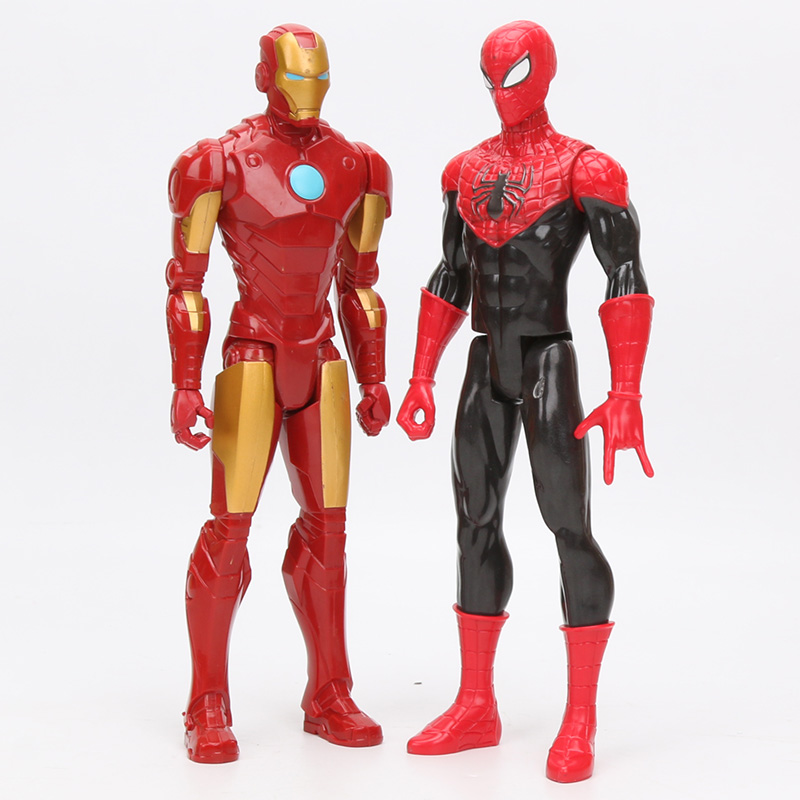Marvel The Avengers Titan Hero Series Ultimate Spider-Man Iron Man Captain America Action Figure Collectible Model Toy 30cm
