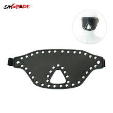 Smspade Bondage Blindfold Sex Toys for Couples Elastic Belt with Open Nose Hole for Breath Nails Decorated Sex Mask Adult Games