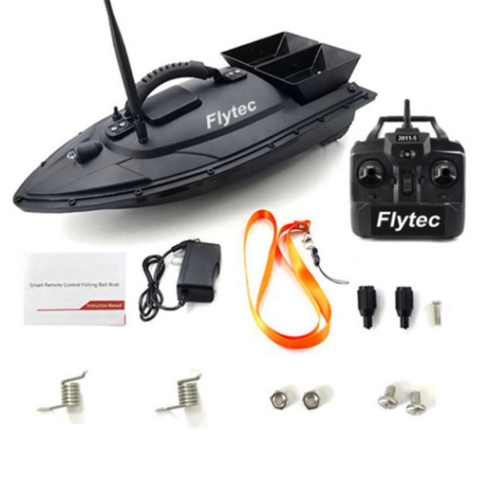 Flytec 2011-5 Fishing Tool Toys Smart RC Bait Boat Toys Dual Motor Fish Finder Ship Boat Remote Control 500m Fishing Speedboat image