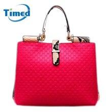 2016 Famous Luxury Brand Fashion Women PU Leather Bags Women Alligator Pattern Handbag Messenger Bag Totes