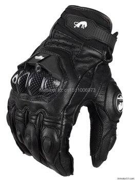 Envío Gratis AFS 6 guantes de cuero de carreras para hombre guantes de protección para motocicletas GUANTES DE CARRETERA