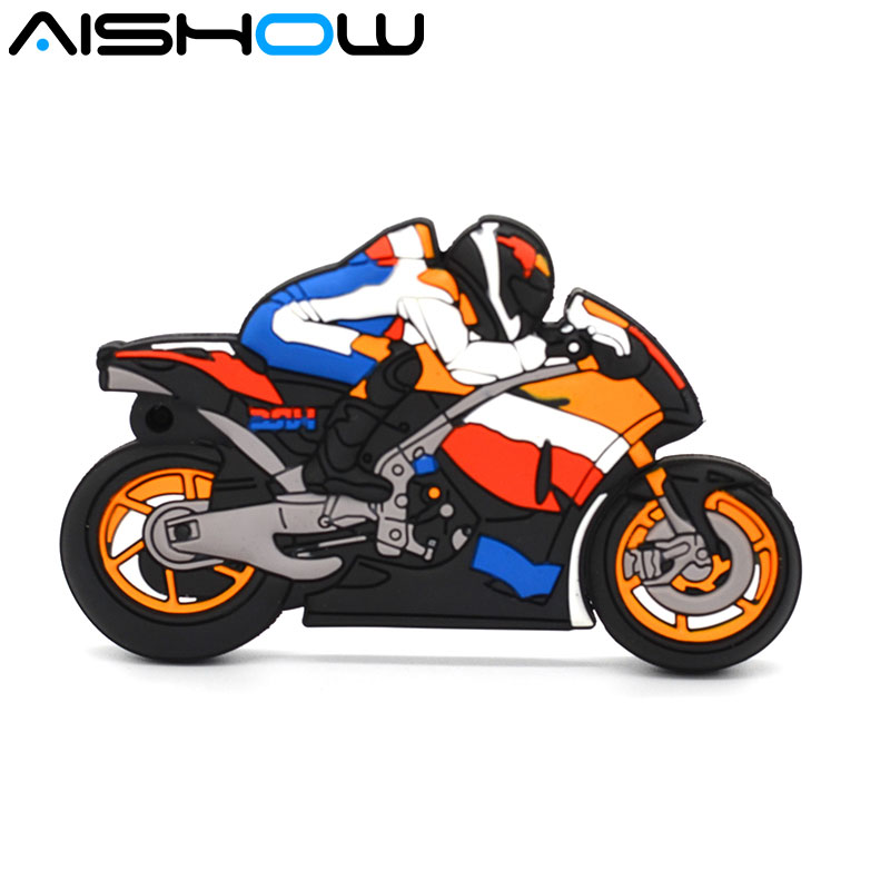 usb flash drive pen drive 4GB 8GB 16GB 32GB Motorcycle Racer Plastic Model 2.0 USB flash drive pen drive memory stick