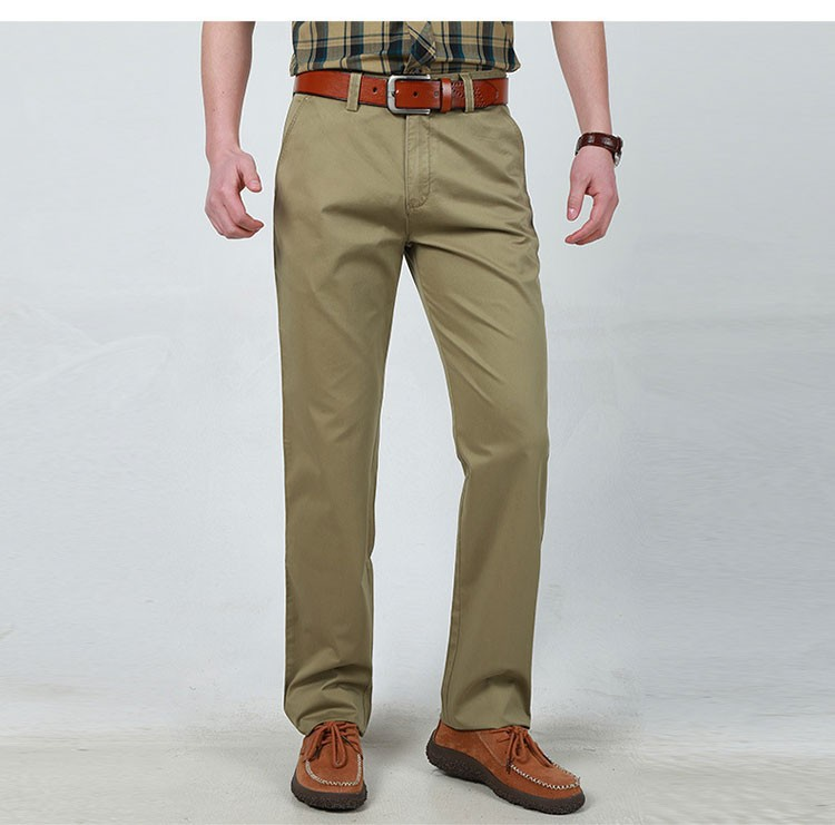 3 Colors 30-42 Fashion Cotton Business Formal Men Casual Long Pants Men\'s Clothing Army Green Pants Trousers Autumn Summer Brand (1)