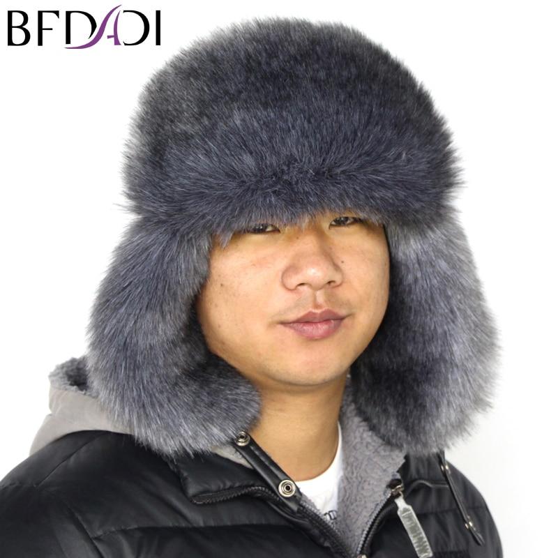 Online Shop BFDADI 2018 New Arrival Men women Hat Best Fashion Russian  Winter Warm Ear Flaps Bomber Hats Faux Fur Outdoor Men s Cap 3 Style  982c13d79bcc