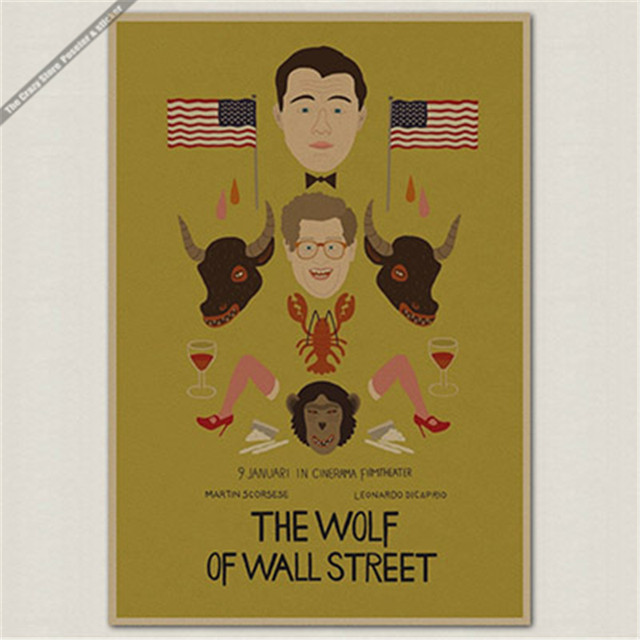 Online Shop The Wolf of Wall Street Oscar vintage Poster retro ...
