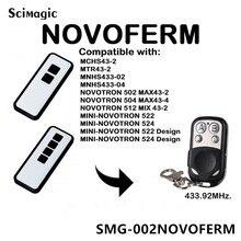Novoferm Mini Novotron 522, 524 kompatybilny pilot zdalnego sterowania 433.92 MHz brama kontroli Novoferm toczenia kod otwierania drzwi garażowych