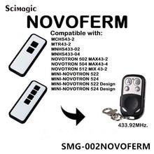 Novoferm mini novotron 522, 524 Control remoto Compatible 433,92 MHz control de puerta Novoferm código rodante abridor de puerta de garaje