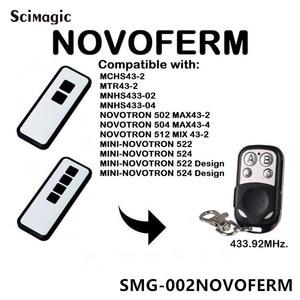 Image 1 - Novoferm mini novotron 522, 524 Control remoto Compatible 433,92 MHz control de puerta Novoferm código rodante abridor de puerta de garaje