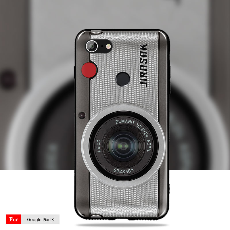 For Google Pixel 3 Case Google Pixel 2 2XL cover Retro Camera Cassette  Tapes Soft Silicon Case For Google Pixel 3XL 2 2XL Cover