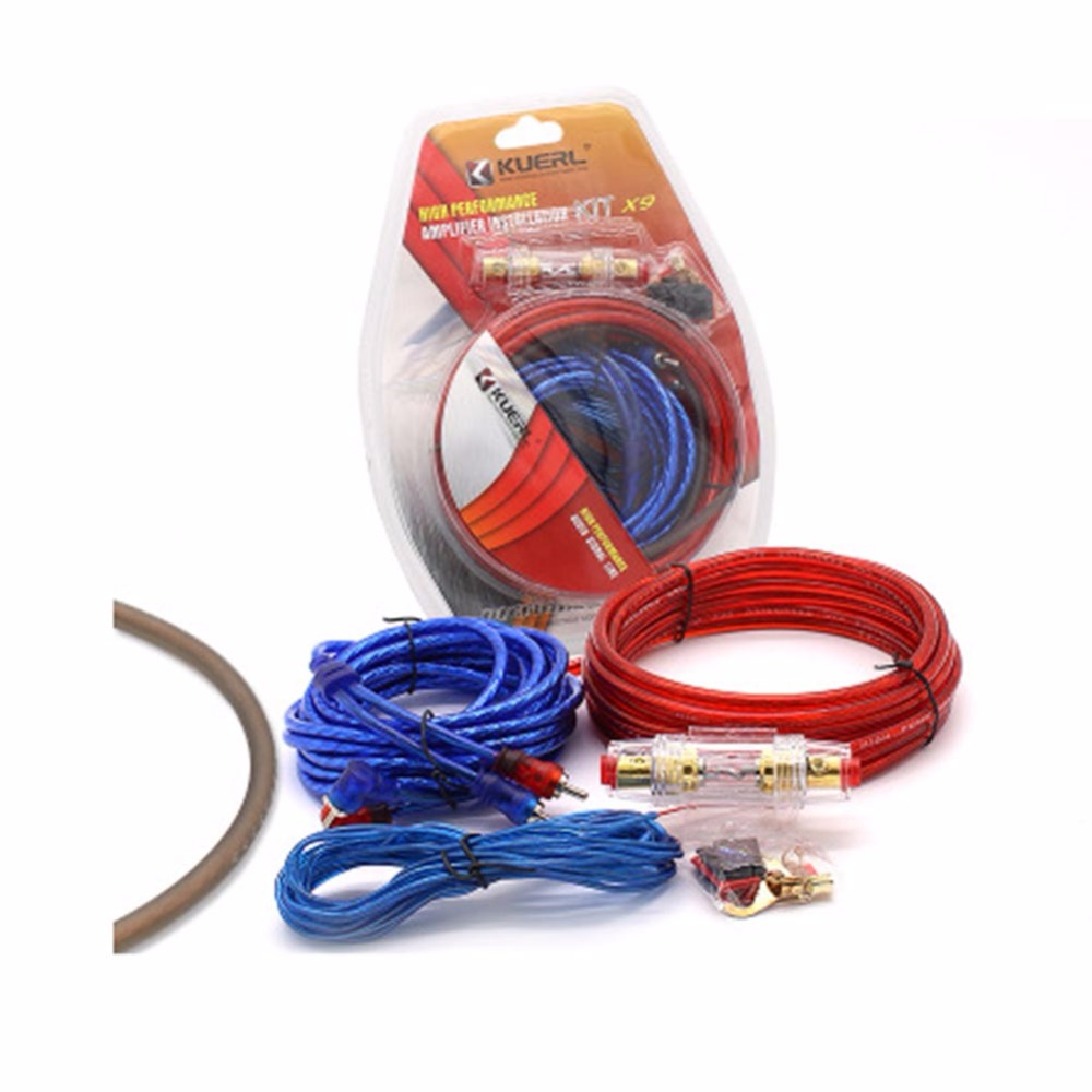 8 Gauge Car Power Amplifier Installation Kit Auto Speaker Woofer Subwoofer Cables Audio Wire Wiring Line With Fuse Suit New In