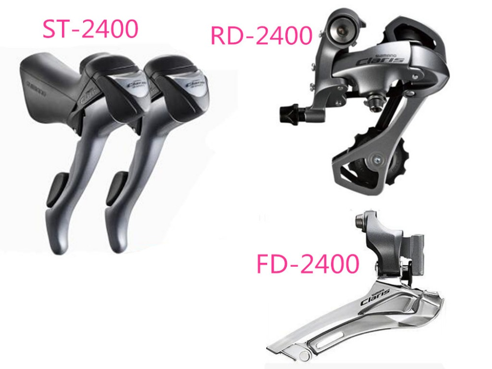 Shimano 2400 Groupset set 3 pcs 2x8 road bike bicycle 16 speed Groupset set shift lever+rear derailleur+front derailleur  shimano acera mountain bike st ef65 shift brake lever 3 8 speed 24s mtb bicycle bike conjoined dip bicycle derailleur