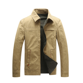 AFS JEEP Military Jacket  Straight Solid Letter Embroidery Cotton Brand  Jacket Turn Down Collar Reversible Jackets Coats