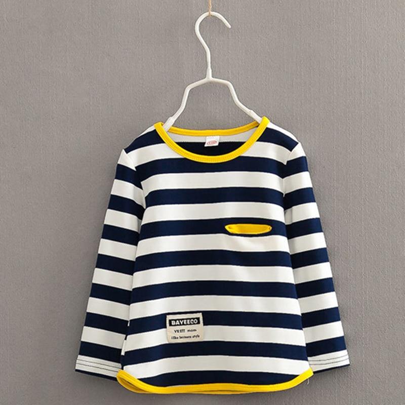V Tree Spring Autumn Long Sleeve T Shirt For Girls Stripe