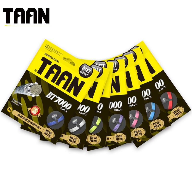 1pc Taan Bt7000 Badminton Racket String High Flexibility 0.68mm Durable Training Gym Racquet String (10m/pack)
