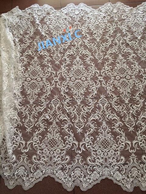 عصري مطرز JIANXI.C 91224 الأفريقية الفرنسية النسيج الدانتيل ذات جودة عالية الأفريقية تول أقمشة الدانتيل ل فستان الزفاف