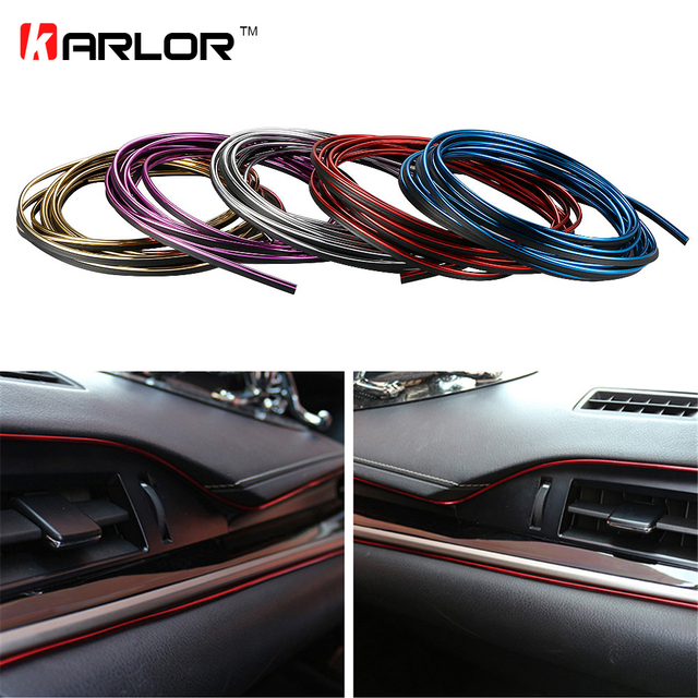 5M Car Styling Interior Decorative Thread Brand Sticker Moulding Trims Strips Car Stickers And Decals Car-Styling Accessories
