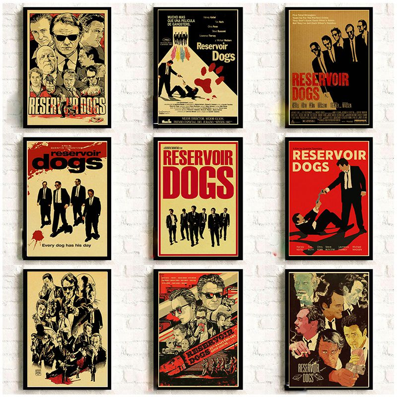 Classic Movie Reservoir Dogs Vintage Poster Kraft Paper Printed Wall Poster Home Room Art Decorative Painting Wall Sticker