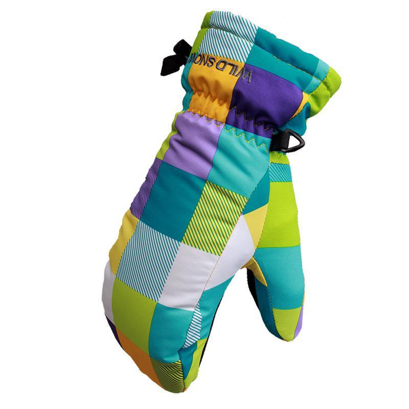 Ski Gloves Waterproof Warm Unisex Hockey Gloves Winter Outdoor Sport Mountain Skiing Snowboard Gloves For Boy Girl Kids S M
