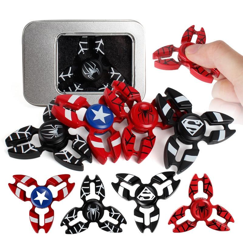 Triangle Gyro The Avengers Hero Hand Finger Spinner Fidget EDC Toy Funny Gifts