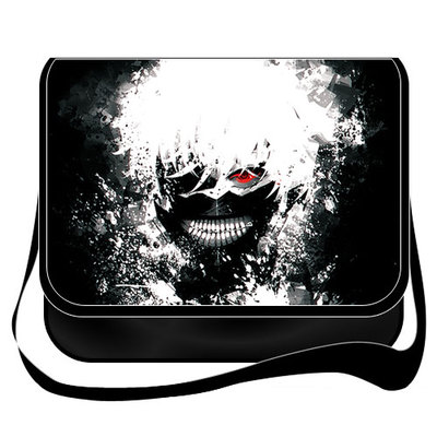 New Arrival Tokyo Ghoul Kaneki Ken Bags Cosplay Anime Messenger Bag Canvas school shoulder bag Handbags anime tokyo ghoul cosplay anime shoulder bag male and female middle school student travel leisure backpack